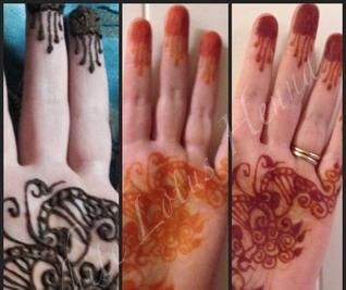 Progression of a natural henna stain- ahh how lovely! Henna FAQs