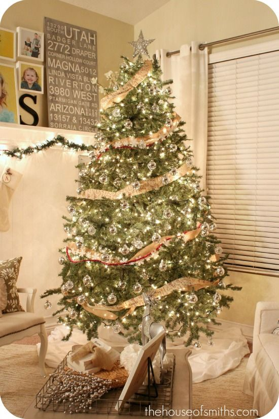 decorating with burlap christmas | ... of Smiths - Interior Design Blogs, Home DIY Blogs, Decorating Ideas