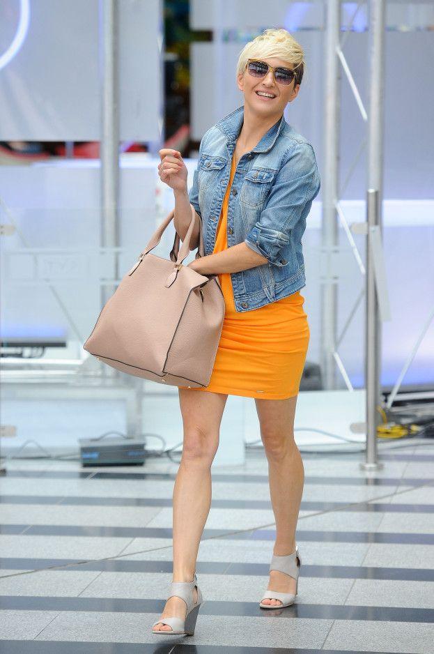 Magda Steczkowska loves Mohito orange dress