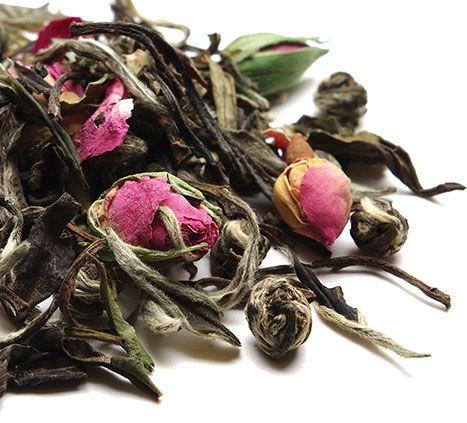 Meditative Mind Loose leaf white tea | Chinese white tea, rosebuds, jasmine pearls | the tea spot