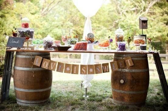 Wine Barrel Candy Bar Nov 10th Candy Table Pinterest