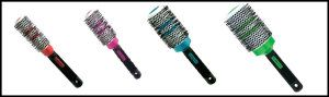 Scalpmaster Ceramic Thermal Brush w/ Thermal Indicator 4 pc Set Ceramic thermal brushes with thermal indicator bands. Set of 4 popular sizes. Color indicator bands show when brush is at optimum thermal performance. Thermal ceramic barrel heats quickly, holds heat longer, leaving hair silky and smooth. http://theceramicchefknives.com/ceramic-brush-set/ Scalpmaster Ceramic Thermal Brush w/ Thermal Indicator 4 pc Set