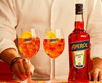 I'm checking out a delicious recipe for Aperol Spritz from Mariano's!