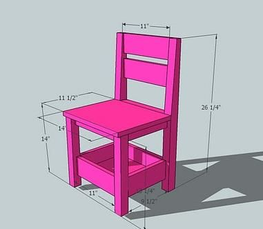Childrens Storage Chair...Planning this one without the storage underneath, rather just support boards.