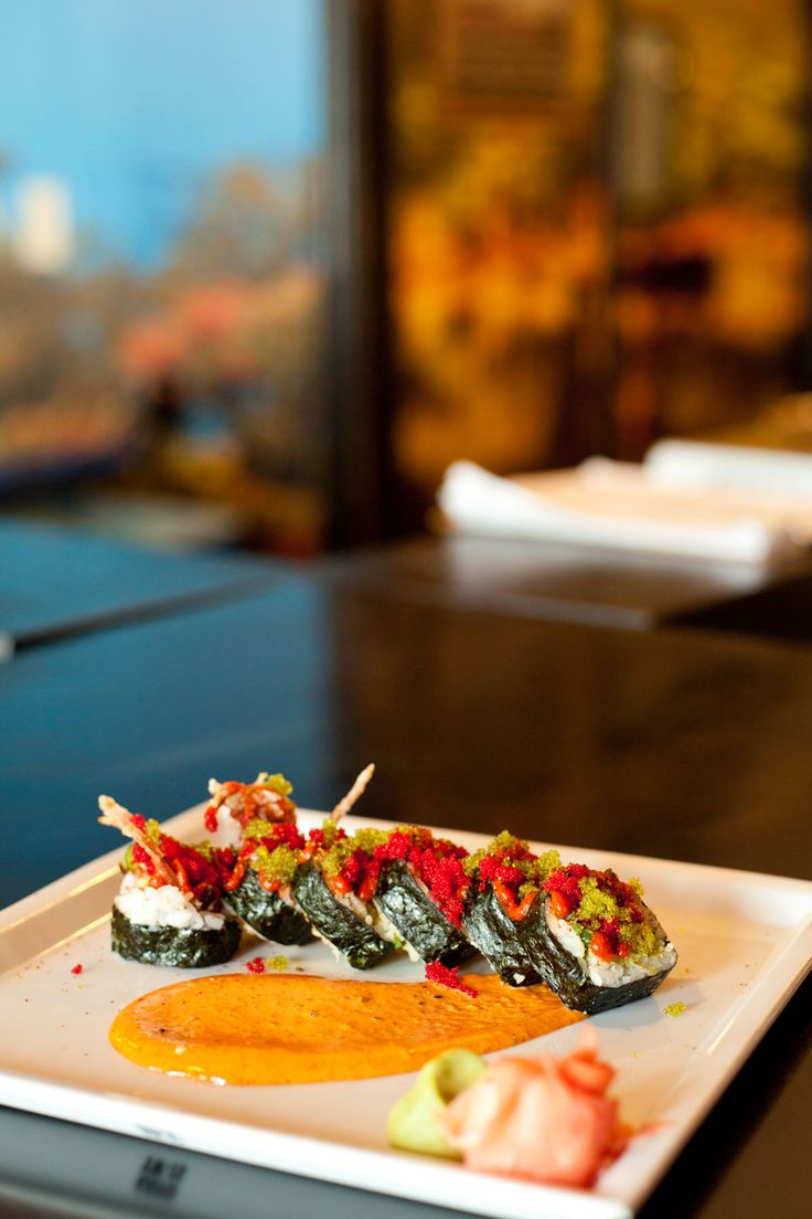 """the """"I Dare You"""" Roll from Fugi Japanese Cuisine and Sushi Bar named to caution on its extra spicy flavors"""