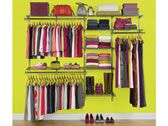 """4' - 8' Deluxe Closet Kits by Rubbermaid - This would be great for a Cellar.  Includes: 7 - 26"""" shelves, 2 - 48"""" Shelves, 2 - 48"""" Top Rails, 19 Brackets, 5 - 47.5"""" uprights, 2 - 25"""" upright Extensions & 2 Hang Rods $ 139.95 - 149.95"""