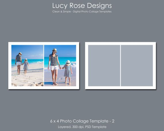 6 x 4 Photo Collage Template - 2 - $3