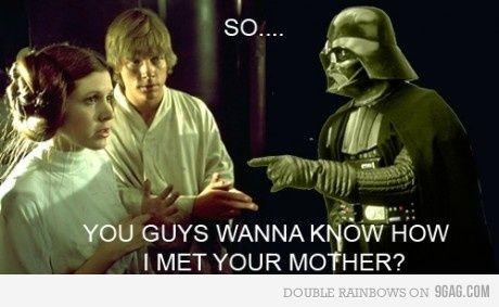 how i met your mother: Nerd Stuff, Darth Vader, With, Mothers, Stars War, Even, Dashboards, Kids, Starwars