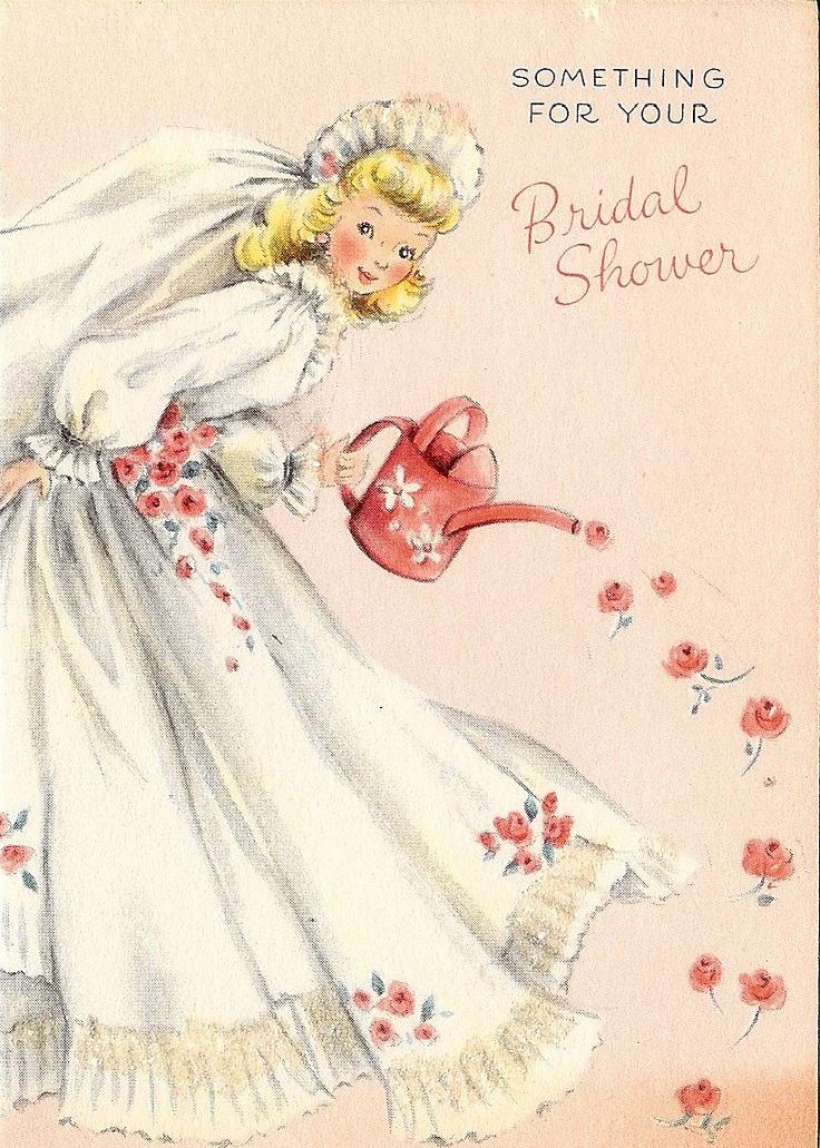 28 best Bridal Shower Vintage Cards images on Pinterest Bridal