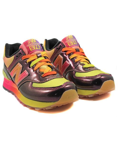 NEW BALANCE: WOMEN\u0027S WL574BOW (PINK/SUNSET)