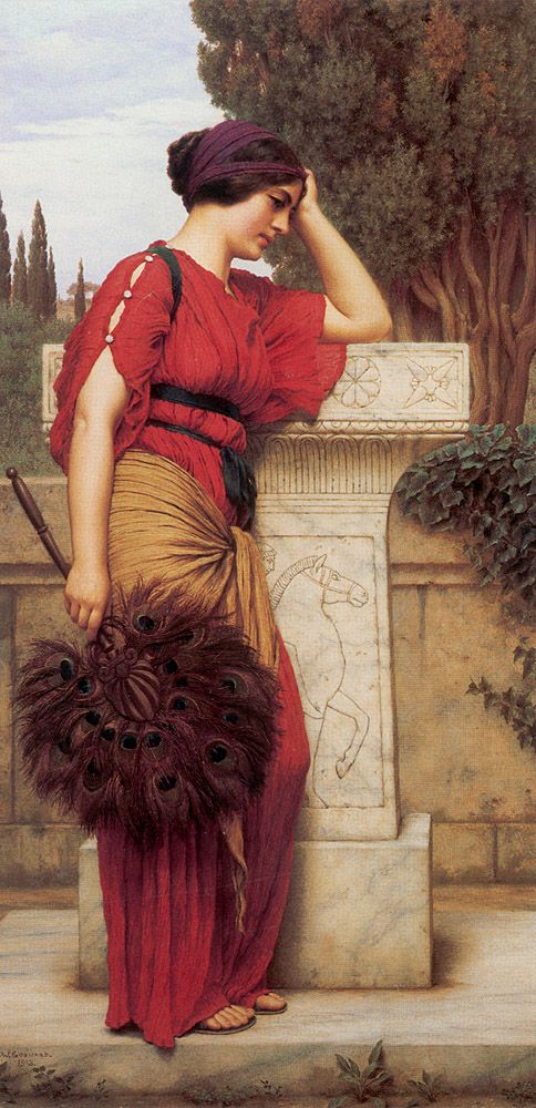 Beautiful Grecian Draping-- John William Godward (1861 – 1922), English painter from the end of the Pre-Raphaelite / Neo-Classicist era.