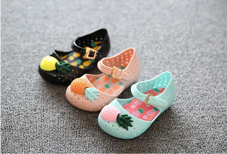 2016 Newest Melissa Girl Sandals Jelly Sandals Flat Shoes Kids Shoes Girl's Shoes Princess Shoes Toddler Girl Sandal Pineapple Shoes Online with $11.42/Piece on Linwei156's Store | DHgate.com