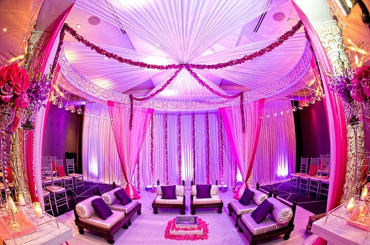 Mandap Pink And Purple Mandap #indianwedding