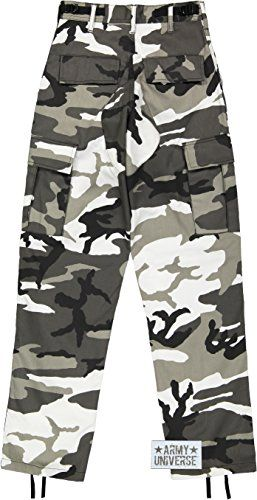 Army Universe Mens Urban City Camo Black White Camo Metro Urban Cargo Pants  Military BDU Fatigues With Pin  pant  menspants  jeans  clothing  fashion ca33eed7c71