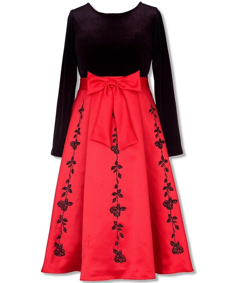 Rare Editions Kids Dress Girls Velvet Holiday Dress