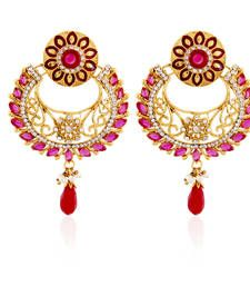 Buy Red cubic zirconia danglers drops danglers-drop online