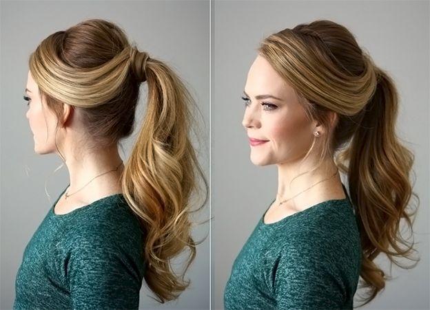 Прически на средние волосы из хвоста