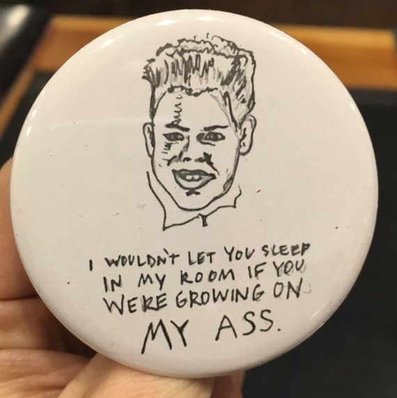 HOME ALONE Buzz McCallister quote drawing button Devin Ratray