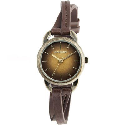 Kahuna - Ladies Brown Leather Crossover Strap Watch - KLS-0294L - RRP: £29.95 - Online Price: £24.00