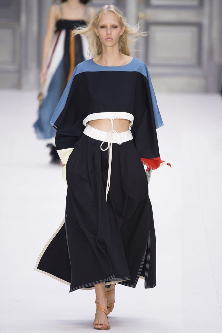 """""""I wanted to bring things back to the waist, so a lot of the pants came sharply in but then were very soft through the leg,"""" Waight Keller said."""" - British Vogue"""