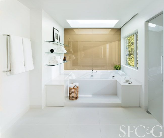 Six Streamlined Baths Awash in Modern Style - San Francisco Cottages & Gardens - February 2015 - San Francisco
