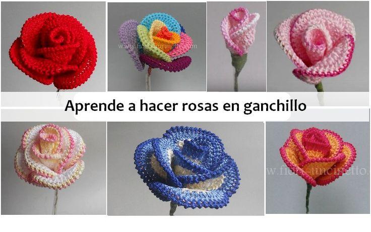 17 best images about flores a crochet on pinterest - Trabajos manuales de ganchillo ...