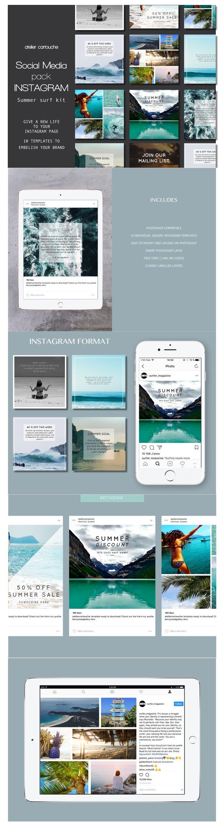 21 best instagram social media templates images on pinterest