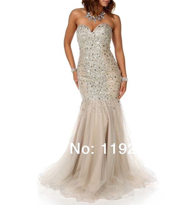 Custom Made Free Shipping Charming Sexy Sweetheart Crepe Prom Dresses 2014 Floor Length Mermaid Evening Gowns 2014 New Arrival $159.00