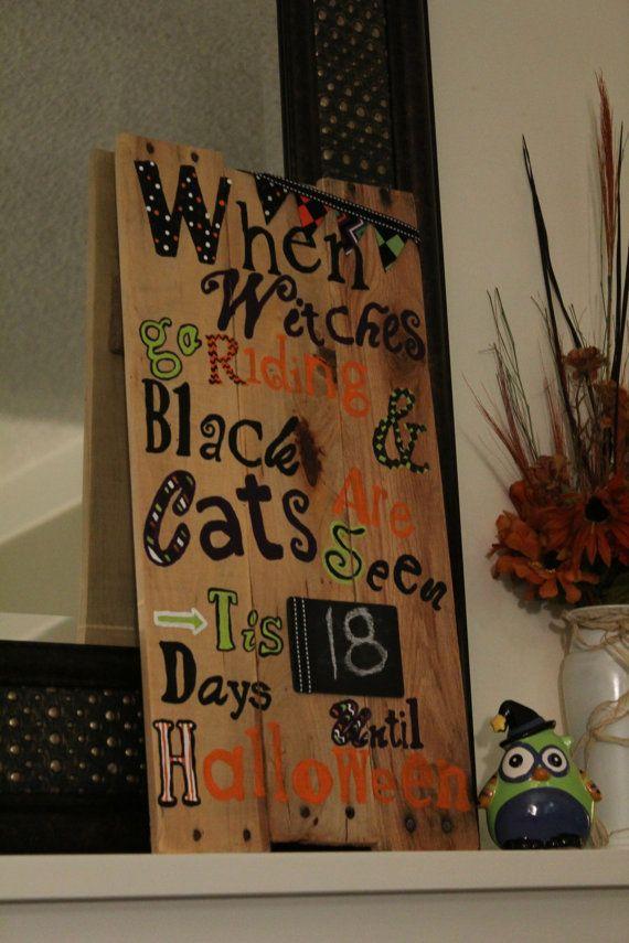 Halloween Pallet sign.  Halloween Countdown!