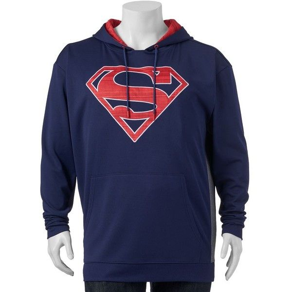 Big & Tall DC Comics Superman Graphic Fleece Hoodie ($35) ❤ liked on Polyvore featuring men's fashion, men's clothing, men's hoodies, blue, mens tall hoodie, mens fleece hoodies, mens patterned hoodies, mens big and tall hoodies and mens hoodies
