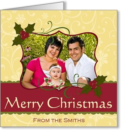 Free Photo Insert Christmas Cards to Print at Home, using your own digital photo. All you need is Microsoft Word.