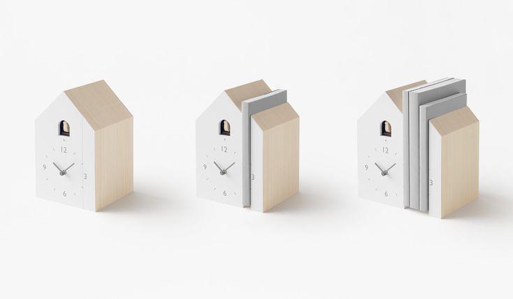 Japanese Design Studio Turns Traditional Cuckoo Clocks On Their Head With Three Minimal Designs Cuckoo Clock Japanese Design Minimal Design