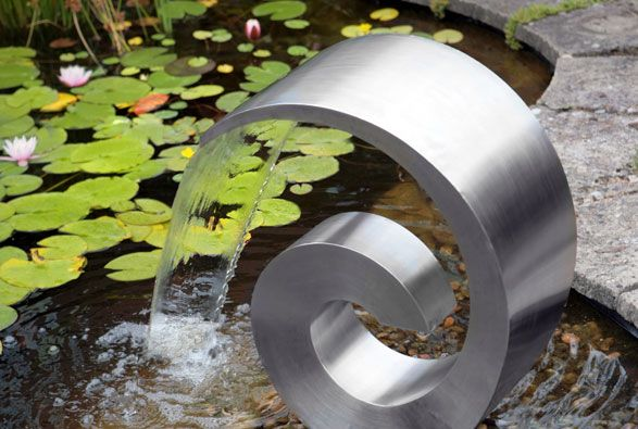 Swirl waterfall fountain. The link takes you to a great gardening website [ albeit in the U.K. ].                                                                                                                                                      More