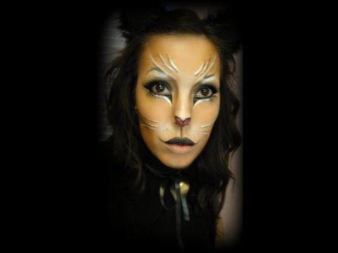 scary halloween cat face halloween kitty cat makeup 13 37 how to cat halloween makeup - Scary Cat Halloween Costume
