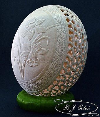 egg art - autor Bogusława Justyna Goleń Poland