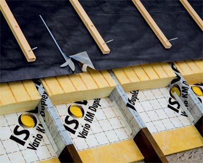 Isover modernization plates complement rafter insulation from the outside