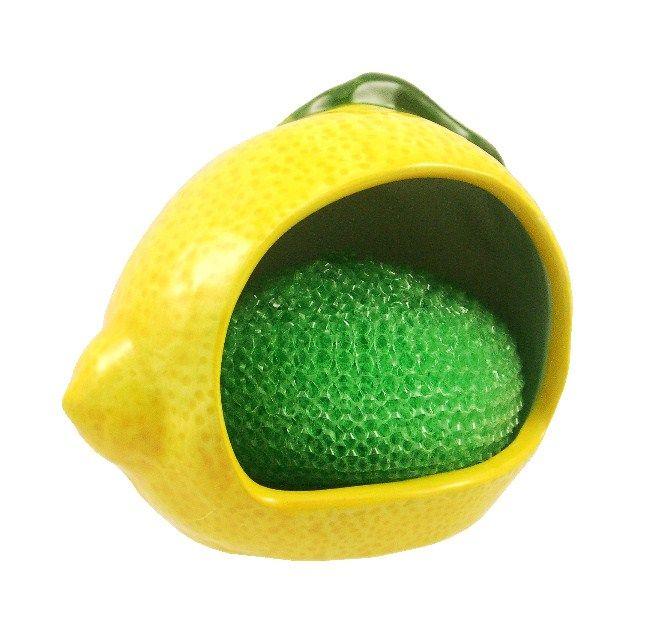 Marcel Home Decor Gift ceramic Kitchen Sponge/Scrub Holder Lemon