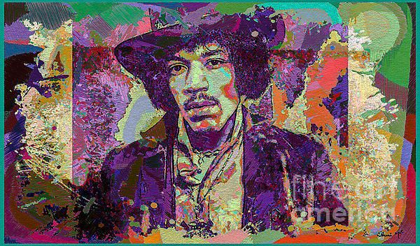 Pop Art Digital Art of  Rock Star Legend Jimi Hendrix.