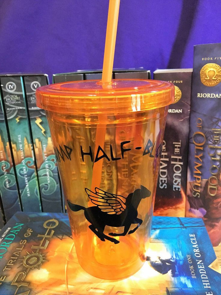 Percy Jackson Camp Half Blood Cup by CandlesFromTheFarm on Etsy https://www.etsy.com/listing/501709678/percy-jackson-camp-half-blood-cup