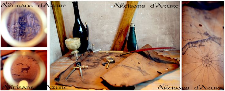 Once upon a larp in the Tavern...A leather map by ArtisansdAzure.deviantart.com on @deviantART