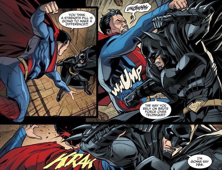 comic book where batman fights superman
