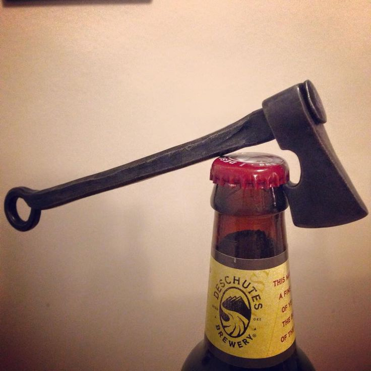 Ax bottle opener made by friend in