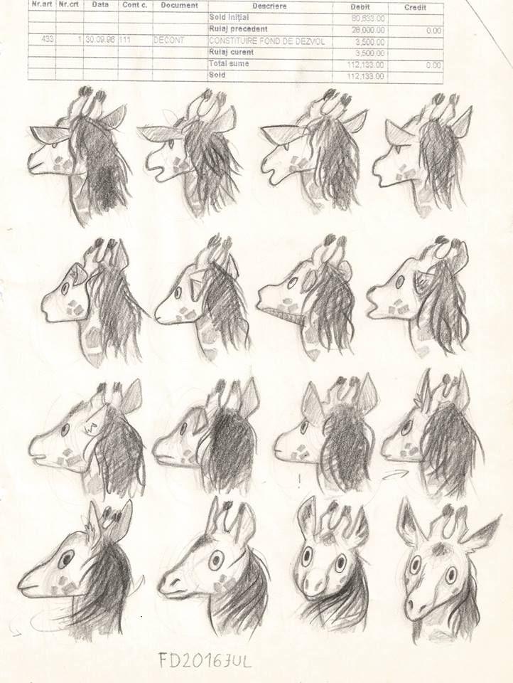 Giraffe character    / animal drawing animation design /