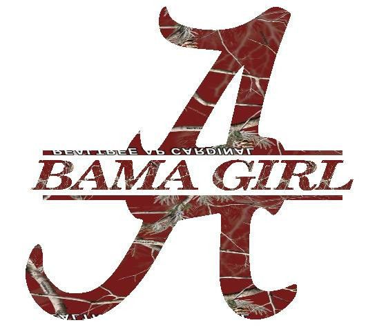 Alabama split letter bama girl logo car truck decal handmade