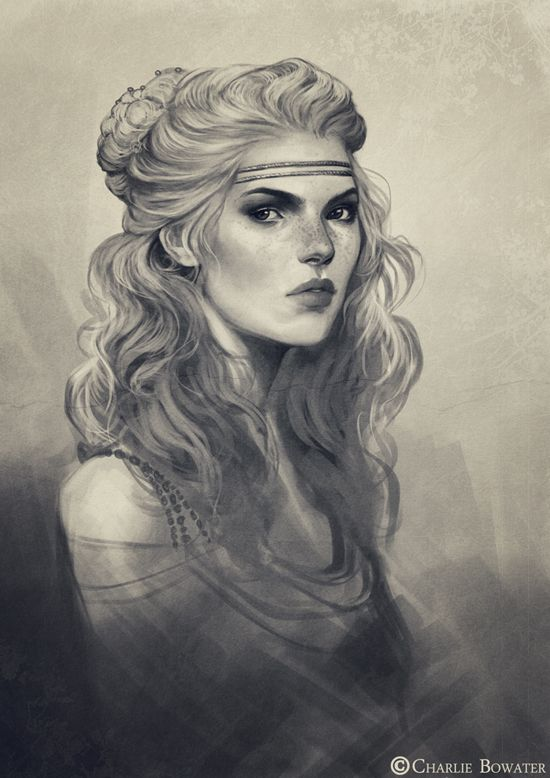 Sketch Bust by Charlie-Bowater.deviantart.com on @deviantART. Not actually a drawing, but beautiful.