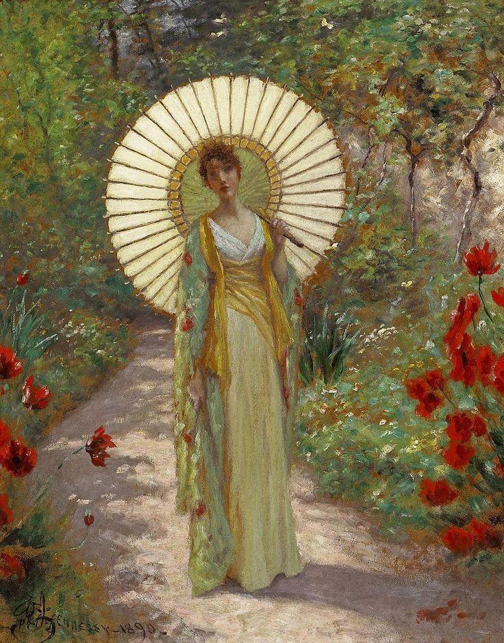 "jes68: "" William John Hennessy (1839–1917),The Japanese Parasol, 1890 """