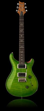 If I could just have one guitar, this would be it. Paul Reed Smith Custom 24, but in the whale blue color.