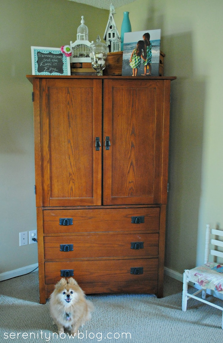 Armoire  decorating Serenity Now blog