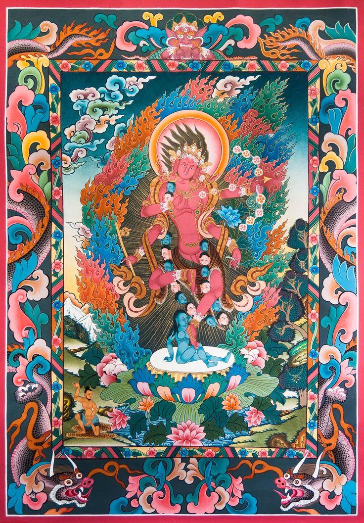 77 best god goddess life death images on pinterest buddha dakini kurukulla tibetan thangka painting fandeluxe Image collections