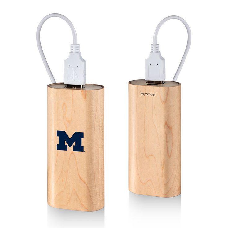 Michigan Wolverines 4000mAh Wood Power Bank